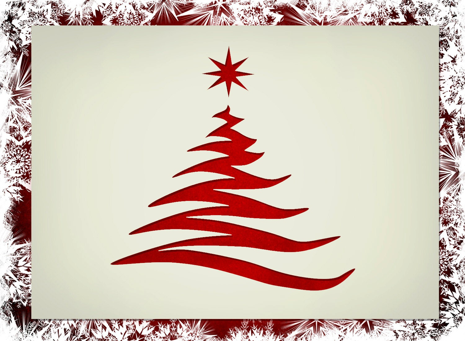 Fancy Christmas Tree Shape Stencil Various Sizes Made From