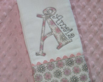 Sweet Baby Girl Burp Cloth