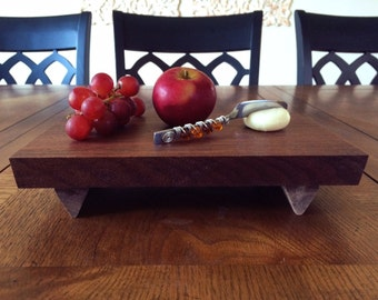 The Knox Cheeseboard Cutting Board, made from 100% Solid Walnut - Customize!