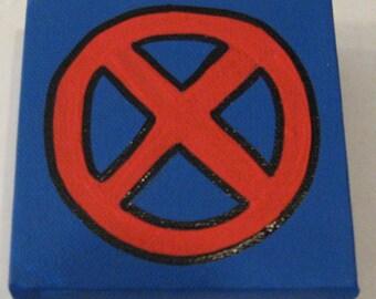 """Marvel X-Men Canvas Picture 4""""x4"""""""