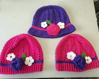 Spring hat - child to adult sizes