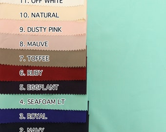 Style 457 Twill Stretch Fabric SINGLE COLOR Swatch Sample