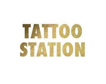 Custom Designed Tattoo Station Sign + Sponges