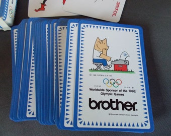 Vintage Worldwide Sponsor Of the 1992 Olympic Games Playing Cards