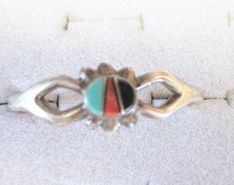 INFANTS bracelet Silver Turquoise Vintage Unworn