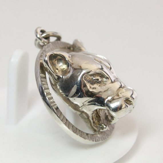 sterling silver mountain lion pendant 1 1 16 inches long rocky. Black Bedroom Furniture Sets. Home Design Ideas