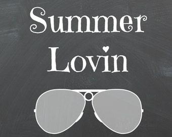 Summer Lovin 8X10 Chalkboard Printable