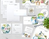 Photography Marketing Set - Geometric Branding Set -  Instant Download - Photoshop Template