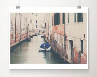 Venice photograph bridge photograph Venice print Italian decor peach home decor Italy photograph boat photograph canal photograph