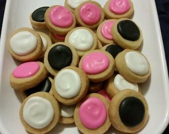Mini Minnie Round Button Cookies (4 dozen)