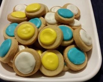 Mini Cinderella Round Button Cookies (4 dozen)