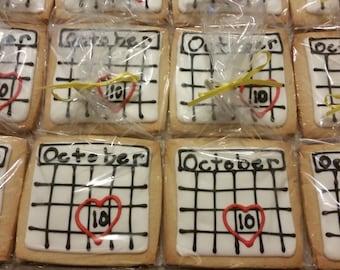 Calendar / Save the Date Cookies - (1 dozen)
