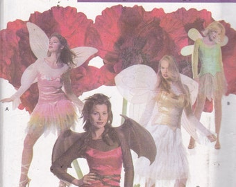 Simplicity 4902 Costume Pattern Womens Fairy, Butterfly, Dragonfly or Bat Costume - Size 6,8,10,12 UNCUT