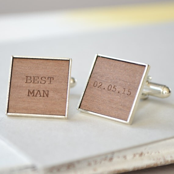 Personalised Wedding Gifts Best Man : Personalised Best Man Engraved CufflinksWedding GiftBest Man ...