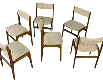 Rosewood Dining Chairs Six Danish Modern Mid Century