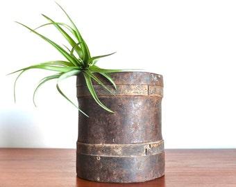 Antique french grain measurer pot from 1900s -  Flower Pot