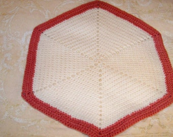 Vintage Hand Made Octagon Shaped Placemats - Set Of 10 - Cecelia - Marie - 125