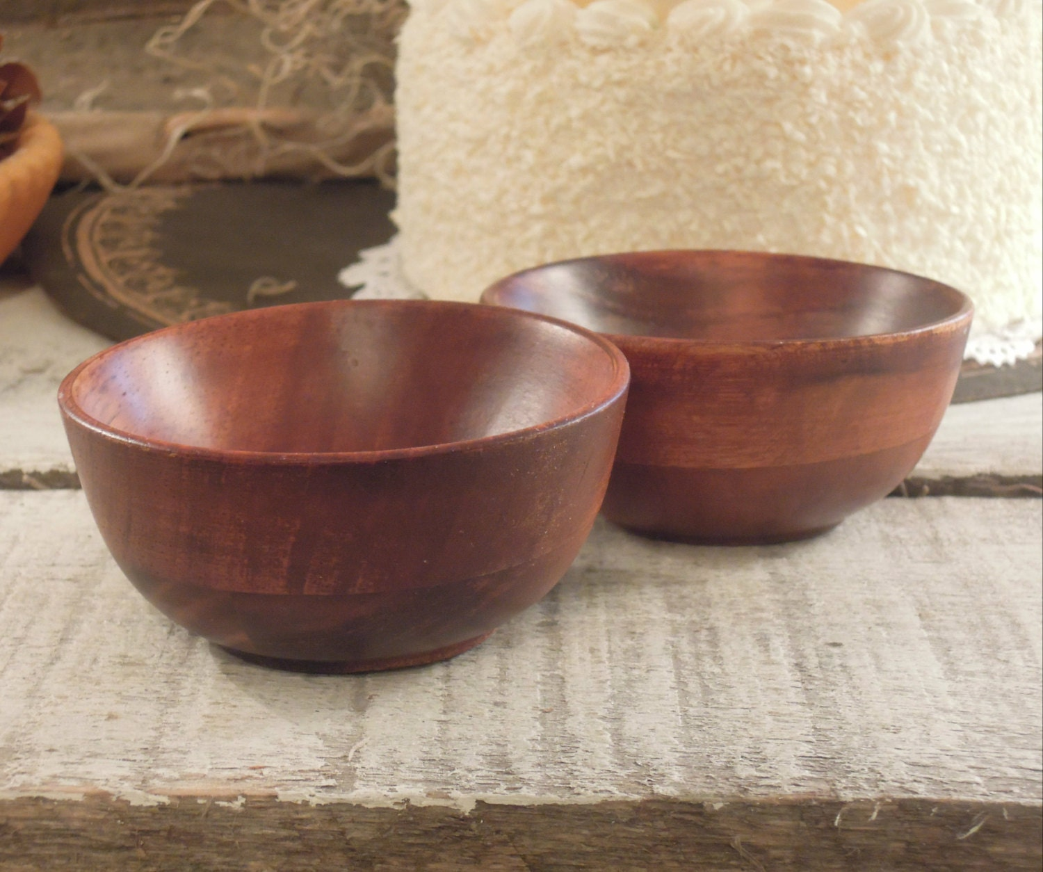 WOOD PINCH BOWLS, Prep Bowls, Small Wooden Bowls for ... |Small Wooden Bowls Saucers