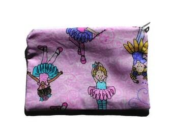Reusable Snack Bag Zipper Pink Ballerinas