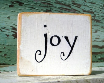 Joy Sign,Christmas Sign,Words On Wood,Sayings On Wood,Small Wood Sign,Freestanding,Wood Block Art,Christmas Card,Reclaim Wood Art,Wood Card