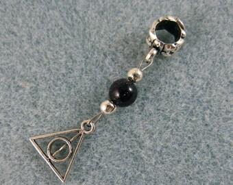 Dreadlock charm dangle Harry Potter Deathly Hallows