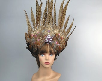 Feather Halloween Masquerade Mask Kentucky Derby Hat Ball Mask Costume Ball Halloween Costume Carnival Costume Party