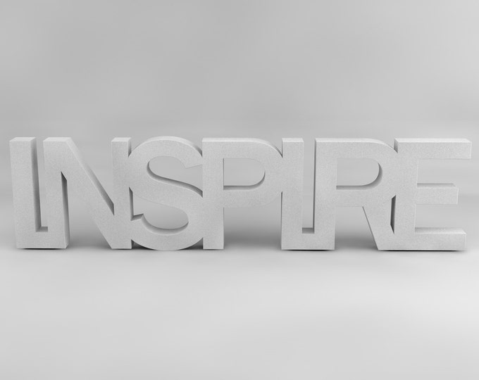 Inspire letters, wood letters, Inspiration art, Free standing
