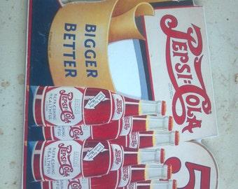 Vintage 1991 Pepsico Inc sign Nostalgia Ink Pepsi sign