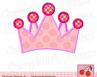Crown Digital Applique,Princess crown applique design-4x4,5x7,6x10 -Machine Embroidery Applique Design