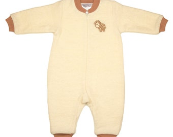 Wool pajama with cotton lining