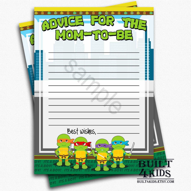 baby ninja turtle advice cards