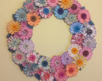 Crazee Daisee Die Cut Flower Wreath