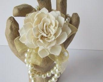 Folded Sola Flower Wristlet Corsage