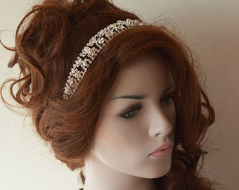 Bridal Hair Accessories, Rhinestone Wedding Headband, Rhinestone Headband, Wedding Hair Comb, Wedding Hair Accessories