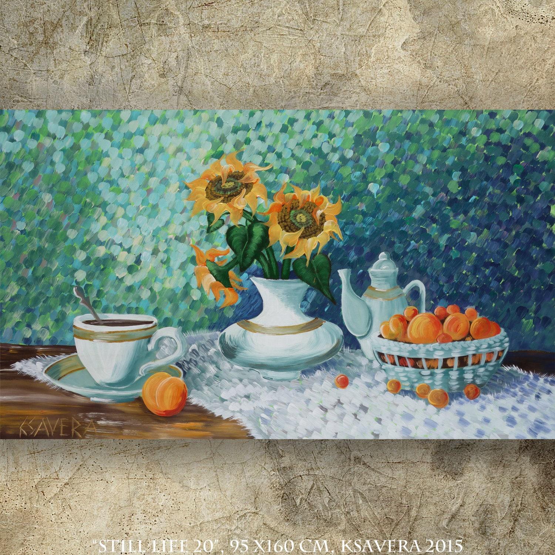 malerei stilleben sonnenblumen gem lde kaufen online von. Black Bedroom Furniture Sets. Home Design Ideas