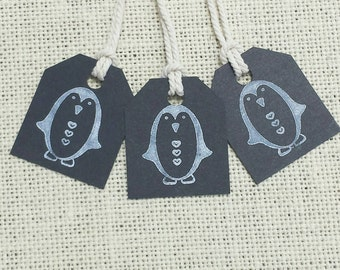 Black Penguin Tags (set of 20)