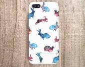 Cute iPhone 4 Case, Galaxy Print Case, iPhone 5 Case, iPhone 4 Case, Rabbit iPhone Cover iPhone Case iPhone 4S Case Hipster iPhone 4 Case