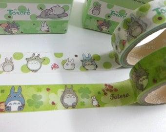 Totoro Washi Masking Tape - 15 mm x 5 M - 2 Rolls
