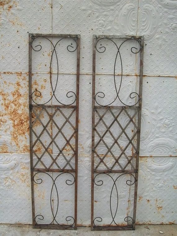 Exterior Wrought Iron Window Skiview Shutters Metal Wall Art
