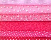 Fat Eights Fabric Bundle: Pam Kitty/Lakehouse Pinks, Color Bundle, Quilting Supplies