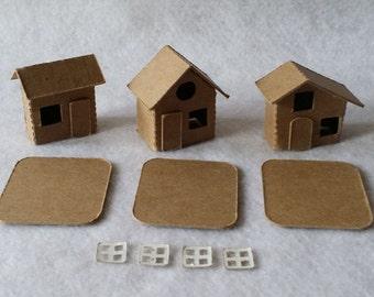 Tiny Houses- DIY Cardboard Village-3 houses