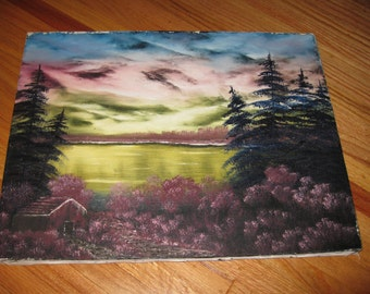 """ORIGINAL OIL PAINTING On Canvas Mounted On Canvas Stretcher Frame 14"""" x 18"""""""