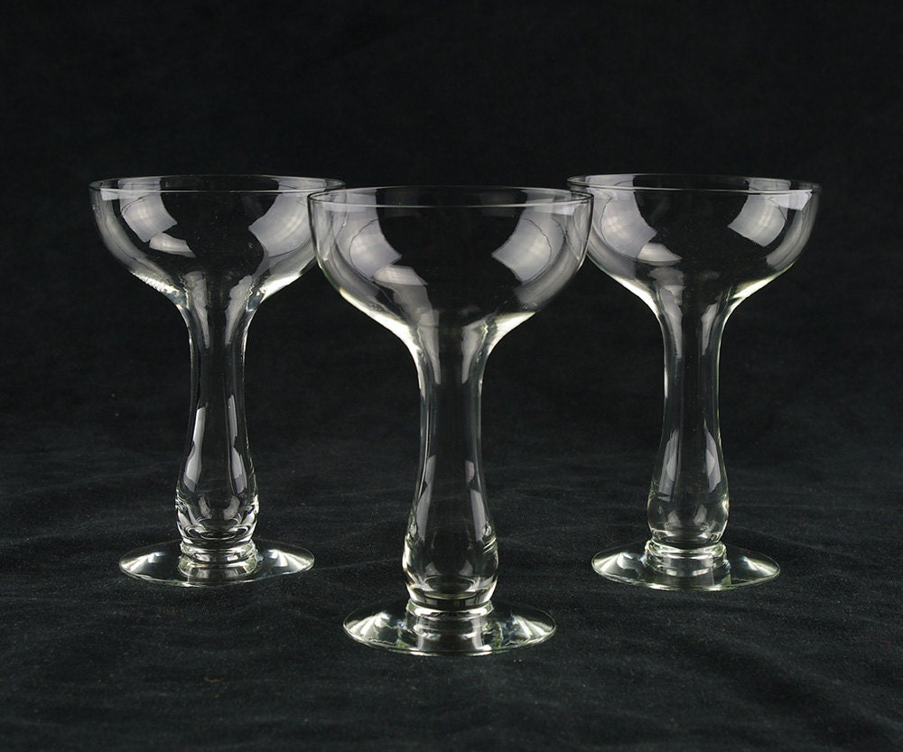 Vintage bulbous hollow stem champagne by therealmcollectibles - Hollow stem champagne glasses ...