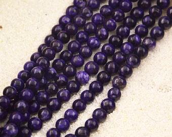 """16""""  Charoite  Round  Loose  Beads 6mm"""