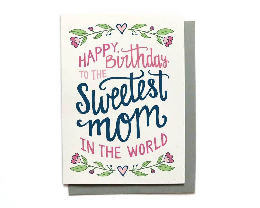best mom card  etsy, Birthday card