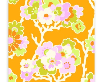 Lottie Da Sprig in Tangerine by Heather Bailey for Free Spirit Fabrics HB033- Half Yard or By the Yard