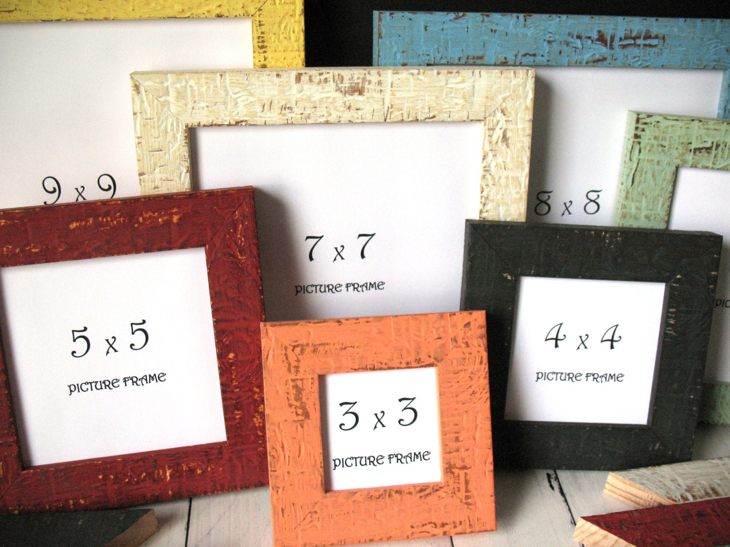 mini beachy picture frames instagram photo frame rustic distressed 3x3 4x4 5x5 6x6 7x7 8x8 9x9 w glass shabby decor