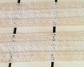 Lace Trim White Ivory 2 Yards Sewing Supply Headbands Craft Supply Quilting by picadillymarket