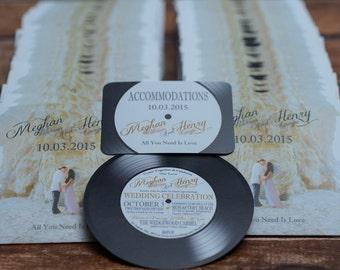 Vinyl Record Wedding invites for music lovers  | Custom Invitations Handmade in Canada by ---- www.empireinvites.ca ---