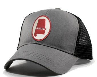 Homeland Tees Alabama Home Trucker Hat - Red Patch